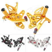 S60s Adjustable Rear Sets Foot Pegs Footpeg Footrest Pedal Fit Suzuki Sv650 2017
