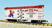 Usa Trains 16369 G Largay Brewing Co. Red Fox Ale Wood Ice Reefer Car 43005