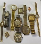 11 Vintage Mens And Womens Wrist Watches By Bulova Seiko Timex
