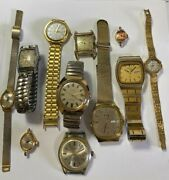11 Vintage Mens And Womens Wrist Watches By Bulova, Seiko, Timex