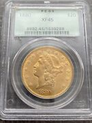 Avc- 1880 Gold 20 Liberty Double Eagle Pcgs Ogh - Tough Date