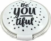 Fashioncraft 5983 Be-you-tiful Compact Mirror, Travel Makeup Mirror, Sweet 16...