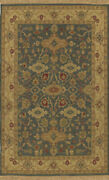 4x6 Surya Hand Knotted Blue Persien Border 51 Area Rug - Approx 4and039 X 6and039