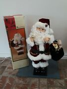 Vintage Traditions 30 Deluxe Animated Santa Musical Candle Light Motionette Euc