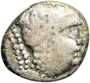 Third Known And Finest Nabataea Silver Drachm Nike Authentic Ancient Greek Coin
