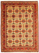 Vintage Hand-knotted Carpet 9'11 X 13'3 Traditional Oriental Wool Area Rug