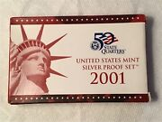 2001 United States Mint Silver Proof Set-mint Fresh