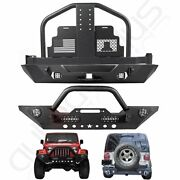 Front / Rear Bumper And Tire Carrier W/o Oil Drums For 2007-2018 Jeep Wrangler Jk