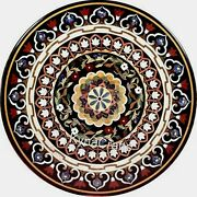 54 X 54 Inches Marble Hallway Table Top With Inlay Work Dining Table For Home