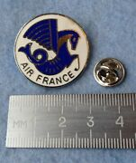 Pin Badge Air France Airlines Vintage Logo 1960 - 1970 And039s Made In England
