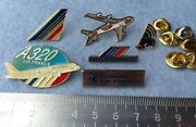Set 6 Pin Badge Air France Airlines Flag Carrier A320 Alliance Skyteam