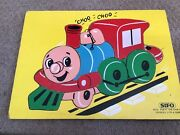 Vintage 1970's Sifo Puffy The Engine Choo Choo Wooden Puzzle 8to