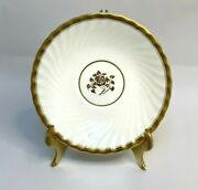 8 Minton Gold Rose Salad Side Plates Swirled Edge And Gold Trim Discontinued