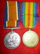 Ww1 Bi-lingual Victory Medal Pair To South African Service Corps - Abrahams