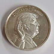 Donald Trump 45th President 2 Troy Ounce Pure .999 Silver Coin