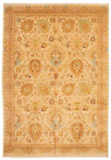 Hand-knotted Carpet 9'10 X 14'0 Bordered, Floral, Traditional Wool Rug