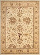 Vintage Hand-knotted Carpet 9and03910 X 13and0395 Traditional Oriental Wool Area Rug