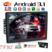 9 10.1 Android Car Stereo Gps Navi Mp5 Player Double 2din Wifi Quad Core Radio