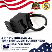 2pc Electronic 2-pin Led Flasher Relay Fix Motorcycle Turn Signal Lights Blinker