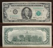 1963a 100 Federal Reserve Note D4 Cleveland Low Serial Star Note Crisp Xf+