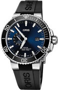 New Oris Aquis Small Second Date Menand039s Watch Ref. 01 743 7733 4135-07 4 24 64eb