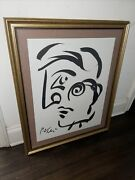 Peter Keil Original Cubist Abstract Painting Coa Authentic