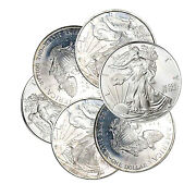 2002-2009 1 American Silver Eagle Imperfect - Toned Spots Etc One Coin Random
