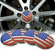 4pcs 56mm American Flag Car Wheel Center Hub Cap Decal Emblem Sticker Usa 2.25