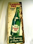 Vintage Canada Dry Ginger Ale The Champagne Of Ginger Ales Metal Sign 54 X 18