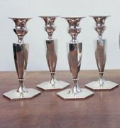 Set Of Four Sterling Silver Roger Williams Silver Co. Candlesticks