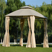 Double-layer Barbecue Shed Grill Canopy Outdoor Bbq Gazebo Tent Uv Protection