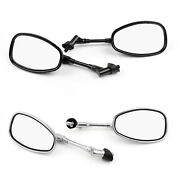 10mm Motocycle Rear View Mirrors For Suzuki Gsf250 Bandit 250/400/600 Sv1000 Ca