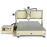 Usb 4axis 2.2kw Cnc 6090z Engraving Machine 4rotating Axis Milling Ball Screw Us