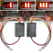 2pcs Car Turn Signal Light 3-step Sequential Dynamic Chase Flash Module Boxes