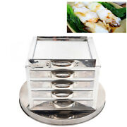 Household 4 Layer Steamer Kitchen Food Steaming Drawers Scraper Stainless Steel