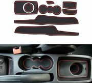 Custom Cup Holder And Door Liner Accessories Fits For Ford Fiesta 2008-2016 8pcs
