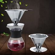 Stainless Steel Coffee Filter Holder Dripper V60 Drip Coffee Baskets New