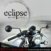 Eclipse Round Mirror Black 10mm Standard And Reverse For Yamaha Midnight Star 1900