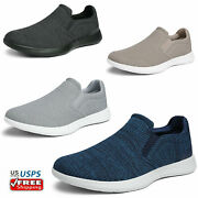 Mens Slip On Casual Shoes Comfort Knit Loafers Walking Shoe Size 6.5-13
