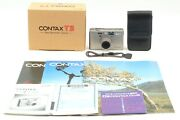 [almost Unused In Box] Contax T3 Double Teeth Point And Shoot 35mm Film Camera Jpn