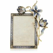 Jay Strongwater Margery Tulip 5 X 7 Frame 14k Gold Spf5807-284 New