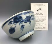 Chinese Ming Dynasty Shipwreck Bowl, The Hatcher Cargo Circa 1640.