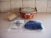 Longaberger Inaugural Basket Liner Protector Lid Tie-on / Pin New Free Ship