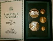 1993 American Eagle Phila. Gold And Silver Coins Rare Proof Set