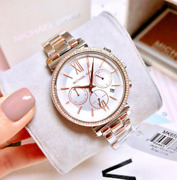 Womenand039s Sofie Dual Tone Rose Gold Silver Watch Mk6558