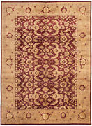 Vintage Hand-knotted Carpet 9and03910 X 13and0399 Traditional Oriental Wool Area Rug