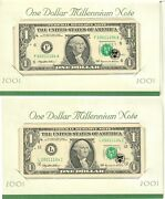 2001 Millennium Notes 2 With The Same Matching Serial Number Plus Error