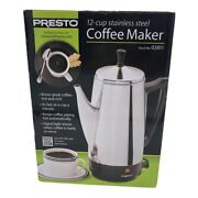 Presto 2 To 12 Cup Stainless Steel Electric Coffee Percolator 02811 New In Box