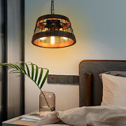 Wood Pendant Light Chandelier Lamp Adjustable Metal Chain Max 59 Inches 110v