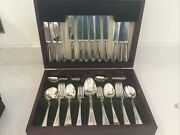 Elkington Silver Plated Canteen Of Cultery 6 Person Boxed 44 Pieces Vgc Epns A1